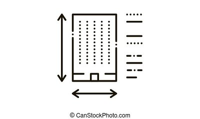 icône, secteur, construction, animation, détermination