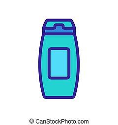 icône, shaker, vecteur, volume, contour, élevé, illustration