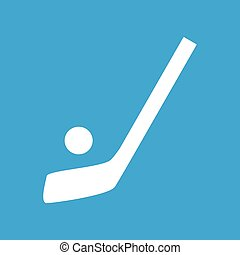 icône, simple, hockey