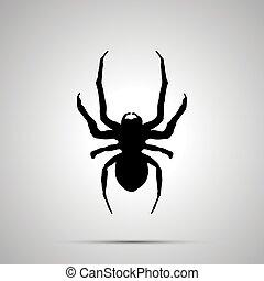 icône, simple, insecte, silhouette, noir