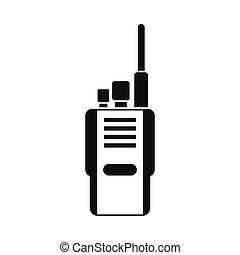 icône, simple, radio, style