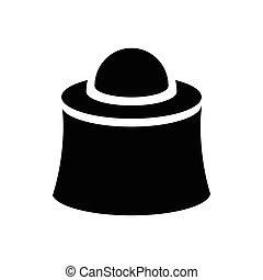 icône, simple, style, apiculteur, masque