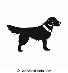 icône, simple, style, chien