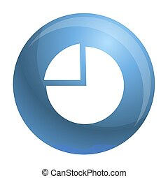 icône, simple, style, diagramme, tarte