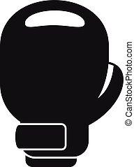 icône, simple, style, gant boxe