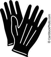 icône, simple, style, gant