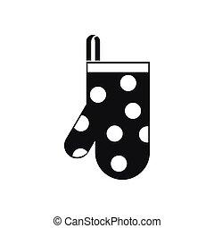 icône, simple, style, gant, cuisine