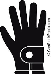 icône, simple, style, gant golf