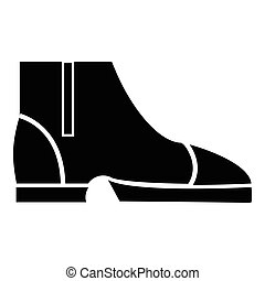 icône, simple, style, hommes, bottes