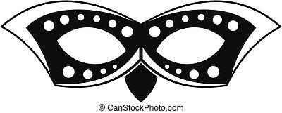 icône, simple, style, masque, événement