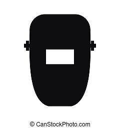 icône, simple, style, masque, soudure