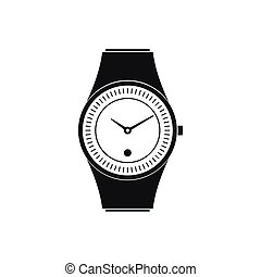 icône, simple, style, montre