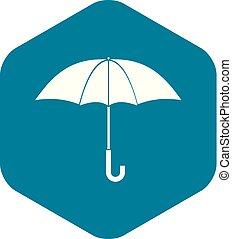 icône, simple, style, parapluie