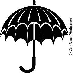 icône, simple, style, parapluie, ouvert