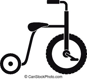 icône, simple, style, plastique, tricycle