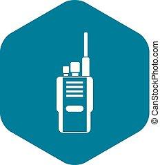 icône, simple, style, radio