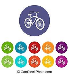 icône, simple, style, vélo