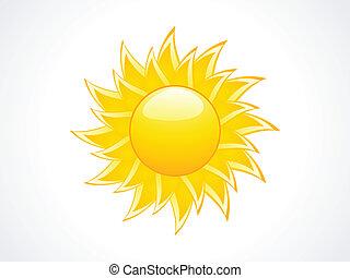 icône, soleil, résumé