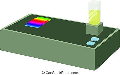 icône, spectromètre, style, dessin animé