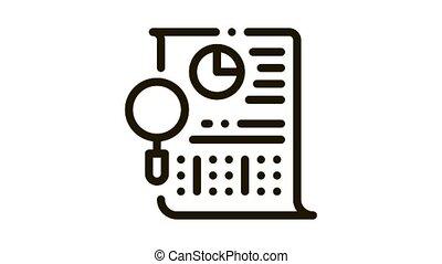 icône, statistician, fichier, recherche, animation
