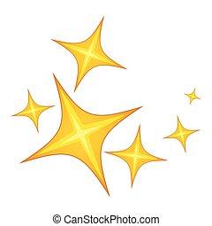icône, style, étoile, dessin animé