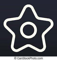 icône, style, étoile, noël, contour