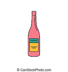 icône, style, africaine, dessin animé, vin