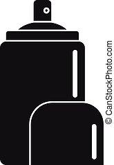 icône, style, désodorisant, simple, pulvérisation