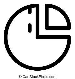 icône, style, diagramme, contour, tarte