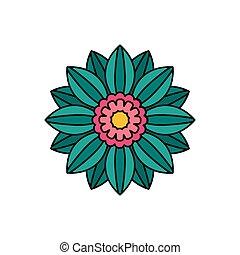 icône, style, fleur, dessin animé, africaine