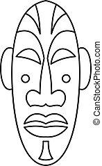 icône, style, masque, contour, africaine