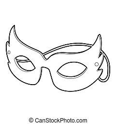 icône, style, masque, contour