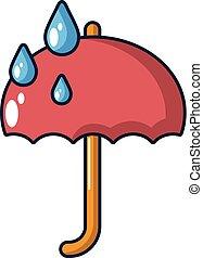 icône, style, parapluie, dessin animé