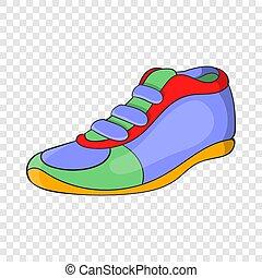 icône, style, sport, chaussure, dessin animé