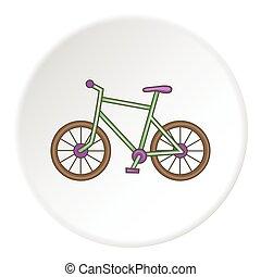 icône, style, vélo, dessin animé
