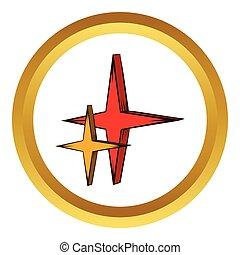 icône, style, vecteur, étoile, dessin animé