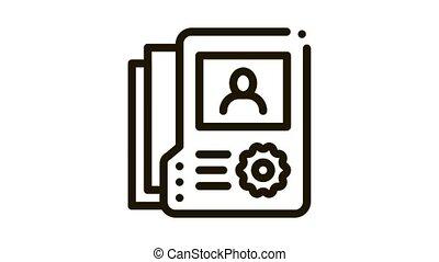 icône, sur, personne, animation, information