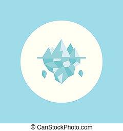 icône, symbole, vecteur, glace, signe
