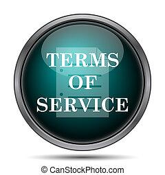 icône, termes, service