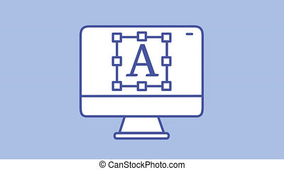 icône, texte, ligne, canal, moniteur, alpha