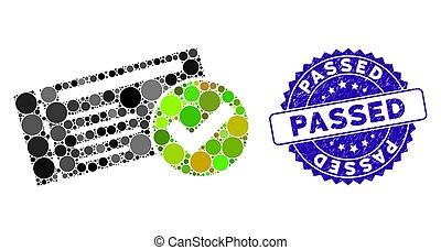 icône, timbre, mosaïque, passé, détresse