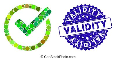 icône, timbre, mosaïque, textured, validity