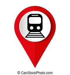icône, toile, plat, internet, train, conception, mobile, rouges, app, vecteur, illustration??????, bouton