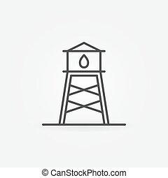 icône, tour, eau