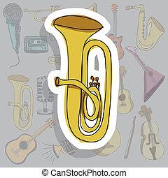 icône, trompette