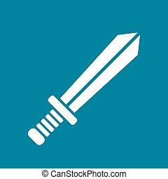icône, vecteur, épée