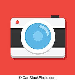 icône, vecteur, appareil photo