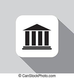 icône, vecteur, banque