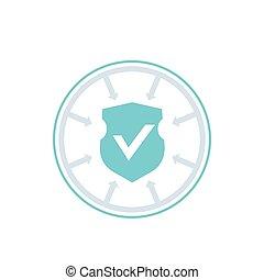 icône, vecteur, cyber, accès, protection, sécurité