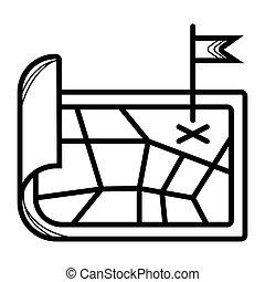 icône, vecteur, emplacement, carte
